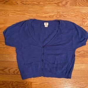 Short Sleeve Crop Cardigan